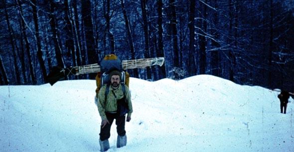 Премо  важелезні лижі на горбі