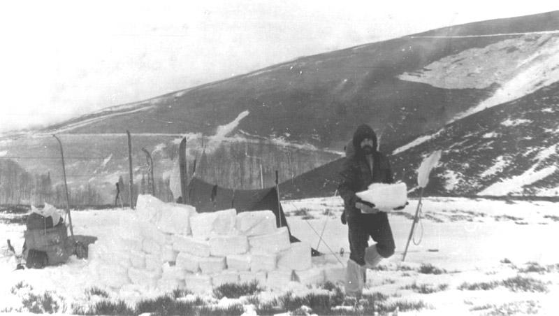 Будуємо  снігову вітрозахисну стінку