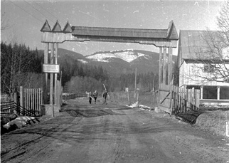 Тріумфальна  арка на завершення маршруту
